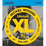 D'Addario Snaren Rglr Bottom Super Light Top EXL-125